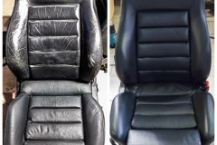 Car seat repair before and after