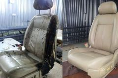 Vehicle seat repair before and after