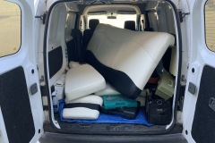 Boat upholstery project