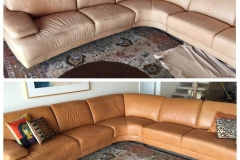 Restoration of color to leather couch