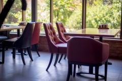Restored leather restaurant furniture