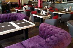 Oformlenie Cafe leather restaurant furniture