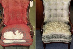 upholstered chair before and after