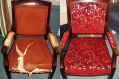 chair repair before and after
