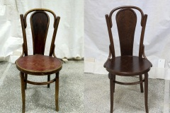 Wood furniture repair chair before / after