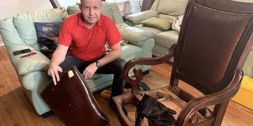 Upholstery Repair At Rojas Law Mrt, Furniture Repair San Antonio
